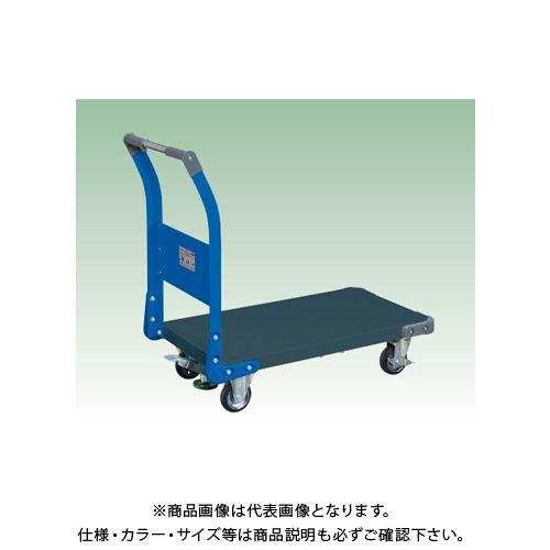 【直送品】サカエ 特製四輪車(ツートン・フロアストッパー付) TAN-22FDB