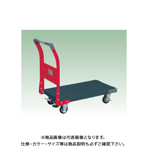 【直送品】サカエ 特製四輪車(ツートン・フロアストッパー付) TAN-22FDR