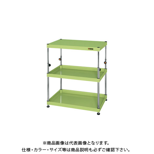 【直送品】サカエ ニューCSパールワゴン固定タイプ(高さ調整) TCSPN-758I