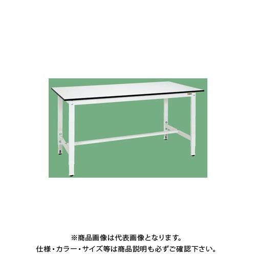 【直送品】サカエ 軽量高さ調整作業台(パールホワイト) TKK8-189LW