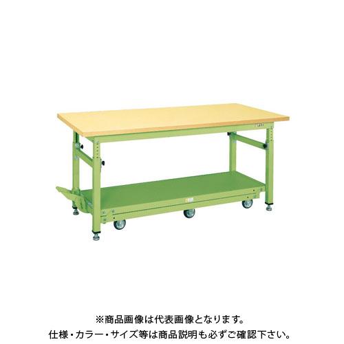 【直送品】サカエ ペダル昇降移動式作業台・軽量TKKタイプ TKW-188Q6GD