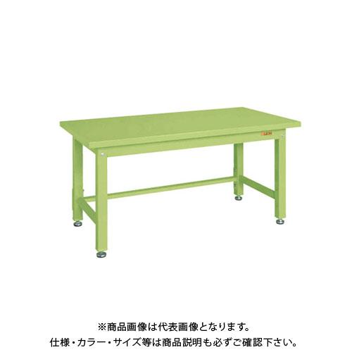 【直送品】サカエ SAKAE 重量作業台KWタイプ 組立式 スチール天板 900×800×740 グリーン KWS-098