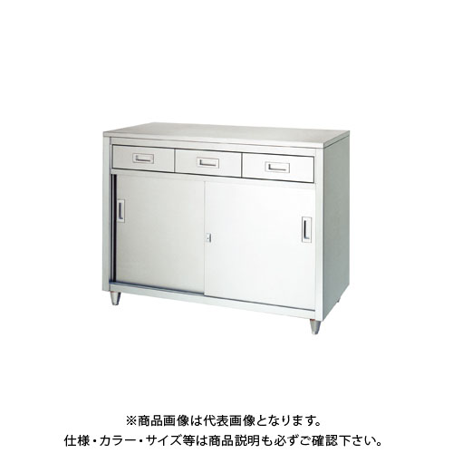 【直送品】【受注生産】シンコー ステンレス保管庫(一段式/引出付) 1200×600×950 LAD-12060