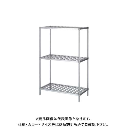 【直送品】【受注生産】シンコー ステンレスラック (スノコ棚3段) 1188×438×1800 RSN3-12045