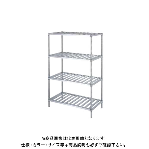 【直送品】【受注生産】シンコー ステンレスラック (スノコ棚4段) 738×438×1800 RSN4-7545