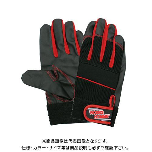 ユニワールド 合成皮革手袋MPファイバー 10双 レッド No.2610R-LL