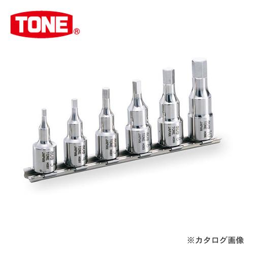 """前田金属工業 トネ TONE 9.5mm(3/8"""") SUSヘキサゴンソケットセット(ホルダー付) SHH306"""