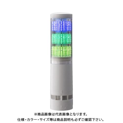 パトライト LA6型積層情報表示灯Φ60 直付け・端子台・ブザーあり LA63DTNWBRYG