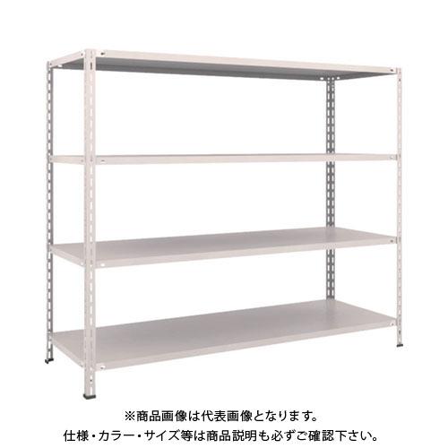 【運賃見積り】【直送品】 TRUSCO 軽量棚 中棚ボルトレス型1800X600X1500 4段 ネオグレー L56W-14:NG