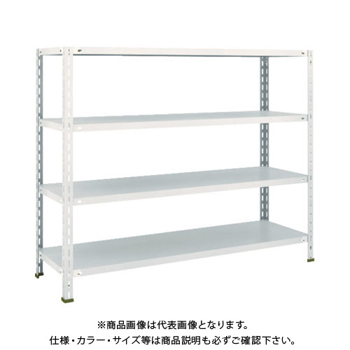 【運賃見積り】【直送品】 TRUSCO 軽量棚 中棚ボルトレス型1500X450X1200 4段 ネオグレー L45X-14:NG