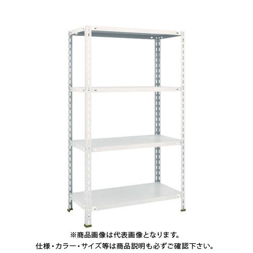 【運賃見積り】【直送品】 TRUSCO 軽量棚 中棚ボルトレス型 875X450X1500 4段 ネオグレー L53X-14:NG