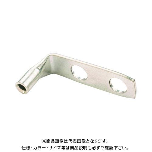 パンドウイット 銅製圧縮端子 標準バレル 2つ穴 90°アングル (50個入) LCD10-14AF-L