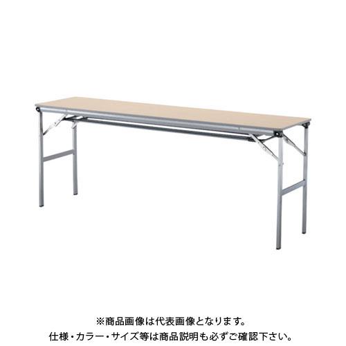 【運賃見積り】【直送品】 アイリスチトセ 折畳みテーブルLOT 棚付き1845Tサイズ ナチュラル LOT-1845T-NA