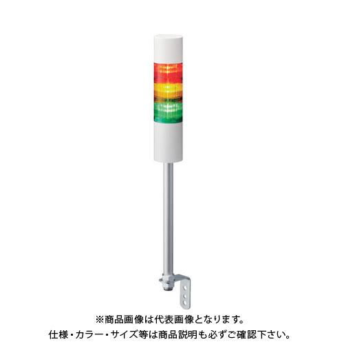 パトライト LR6型 積層信号灯 Φ60 L型ポール取付け LR6-102LJNW-R