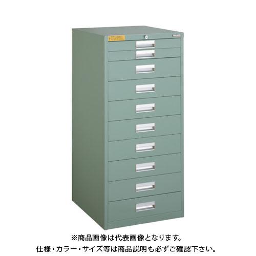 【運賃見積り】【直送品】 TRUSCO LVE型キャビネット 500X550XH1100 引出10段 LVE-1107
