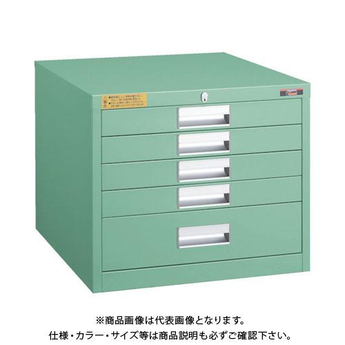 【運賃見積り】【直送品】 TRUSCO LVE型キャビネット 500X550XH420 引出5段 LVE-423