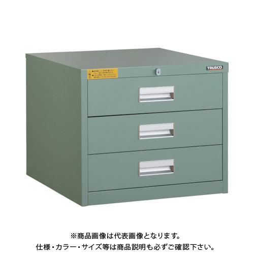 【運賃見積り】【直送品】 TRUSCO LVE型キャビネット 500X550XH420 引出3段 LVE-426