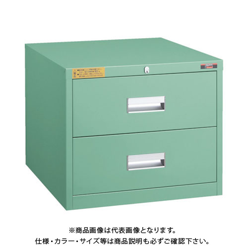 【運賃見積り】【直送品】 TRUSCO LVE型キャビネット 500X550XH420 引出2段 LVE-427