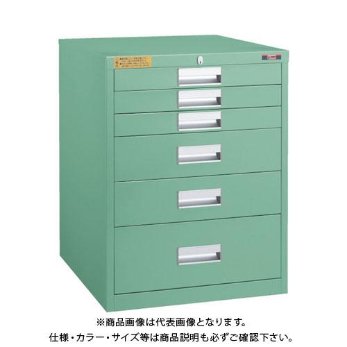 【運賃見積り】【直送品】 TRUSCO LVE型キャビネット 500X550XH650 引出6段 LVE-651