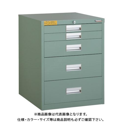 【運賃見積り】【直送品】 TRUSCO LVE型キャビネット 500X550XH650 引出5段 LVE-654