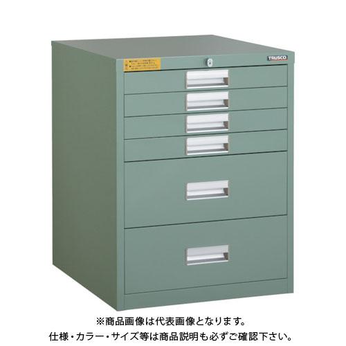 【運賃見積り】【直送品】 TRUSCO LVE型キャビネット 500X550XH650 引出6段 LVE-656