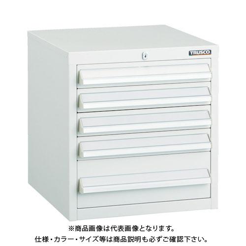 【運賃見積り】【直送品】 TRUSCO LVR型キャビネット 392X412XH420 引出5段 W LVR-423W
