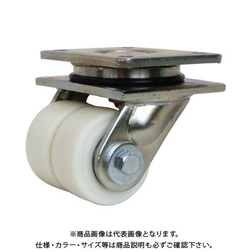 【運賃見積り】【直送品】シシク 低床重荷重用双輪キャスター 自在 80径 LSD-GSPO-80K
