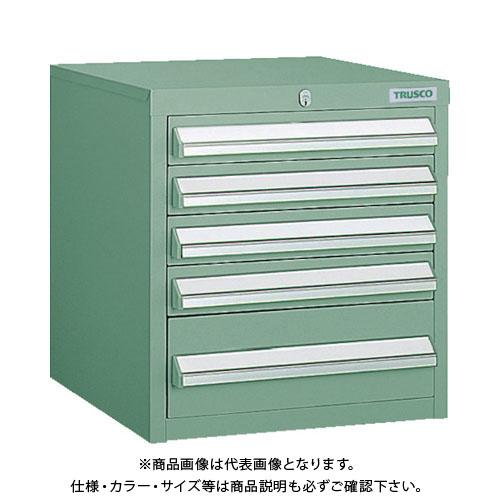 【個別送料1000円】【直送品】 TRUSCO LVR型キャビネット 392X412XH420 引出5段 緑 LVR-423:GN