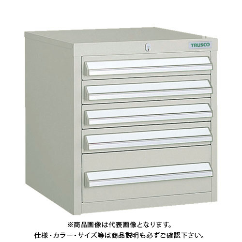 【個別送料1000円】【直送品】 TRUSCO LVR型キャビネット 392X412XH420 引出5段 ネオグレー LVR-423:NG