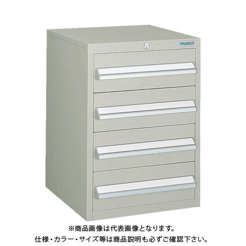 【個別送料1000円】【直送品】 TRUSCO LVR型キャビネット 392X412XH540 引出4段 ネオグレー LVR-542:NG