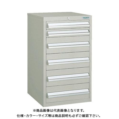 【個別送料1000円】【直送品】 TRUSCO LVR型キャビネット 392X412XH660 引出6段 ネオグレー LVR-662:NG