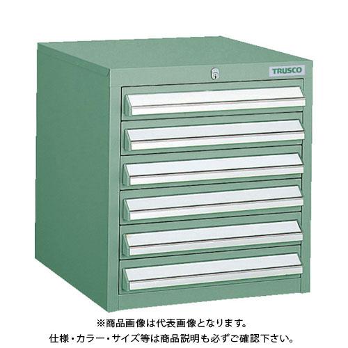 【個別送料1000円】【直送品】 TRUSCO LVR型キャビネット 392X412XH420 引出6段 緑 LVR-421:GN