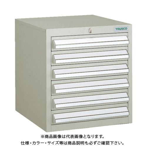 【個別送料1000円】【直送品】 TRUSCO LVR型キャビネット 392X412XH420 引出6段 ネオグレー LVR-421:NG