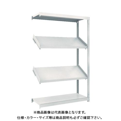 【運賃見積り】【直送品】 TRUSCO M1.5型棚 1200X450XH1800 4段 傾斜2段 連結 M1.5-6444K2B