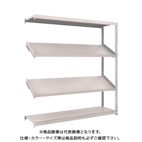【運賃見積り】【直送品】 TRUSCO M1.5型棚 1800X450XH1800 4段 傾斜2段 連結 M1.5-6644K2B