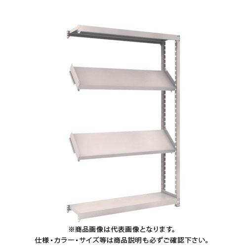 【運賃見積り】【直送品】 TRUSCO M2型棚 1200X300XH1800 4段 傾斜2段 連結 M2-6434K2B
