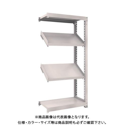 【運賃見積り】【直送品】 TRUSCO M3型中量棚 900X471XH1800 4段 傾斜2段 連結 M3-6354K2B