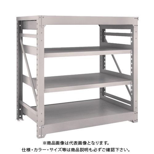 【直送品】 TRUSCO M10型重量棚 1200X760XH1200 4段 単体 ネオグレー M10-4474:NG