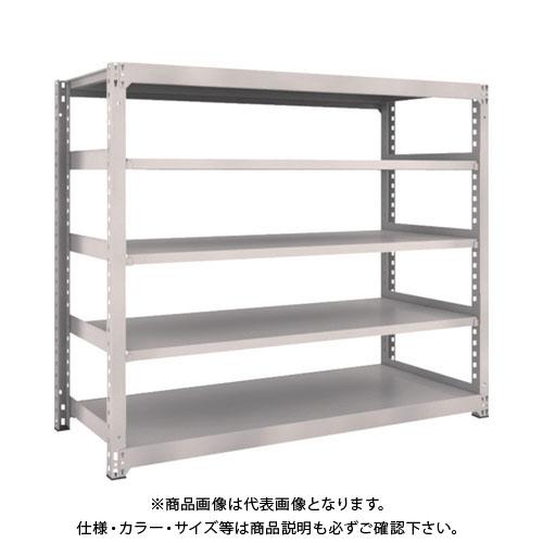 【運賃見積り】【直送品】 TRUSCO M3型中量棚 1800X721XH1500 5段 単体 ネオグレー M3-5675:NG