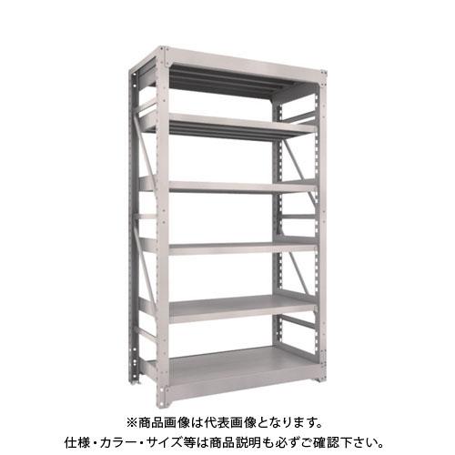 【運賃見積り】【直送品】 TRUSCO M10型重量棚 1200X620XH2100 6段 単体 ネオグレー M10-7466:NG