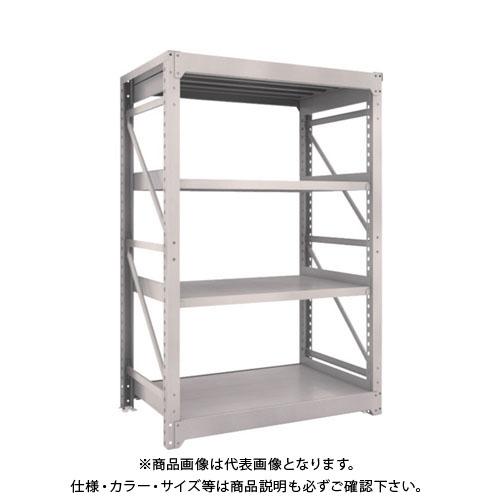 【直送品】 TRUSCO M10型重量棚 1200X760XH1800 4段 単体 ネオグレー M10-6474:NG