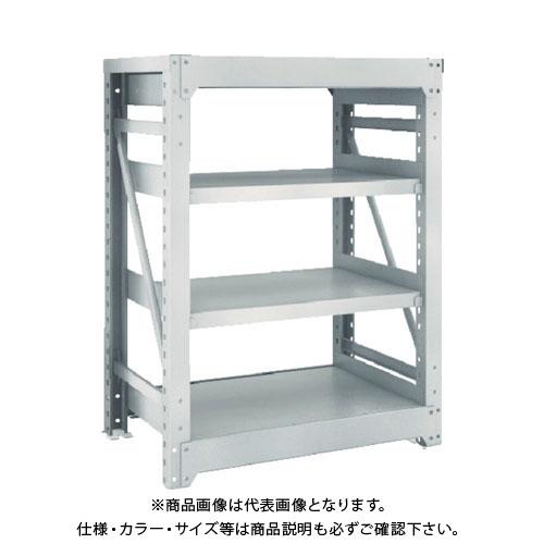 【運賃見積り】【直送品】 TRUSCO M10型重量棚 900X620XH1200 4段 単体 ネオグレー M10-4364:NG