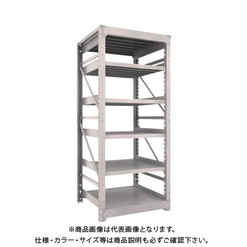 【運賃見積り】【直送品】 TRUSCO M10型重量棚 900X900XH2100 6段 単体 ネオグレー M10-7396:NG