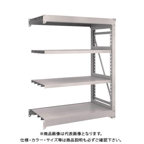 【運賃見積り】【直送品】 TRUSCO M10型重量棚 1200X620XH1500 4段 連結 ネオグレー M10-5464B:NG