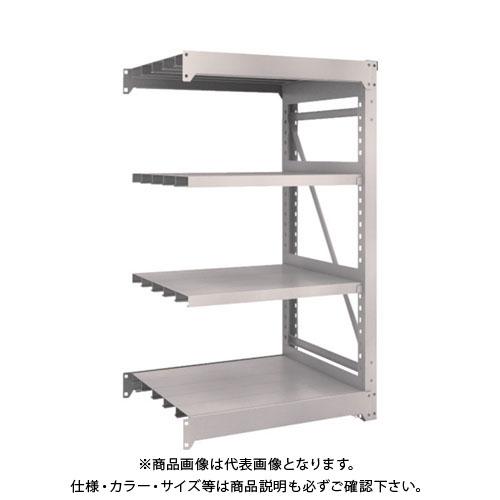 【運賃見積り】【直送品】 TRUSCO M10型重量棚 900X760XH1500 4段 連結 ネオグレー M10-5374B:NG