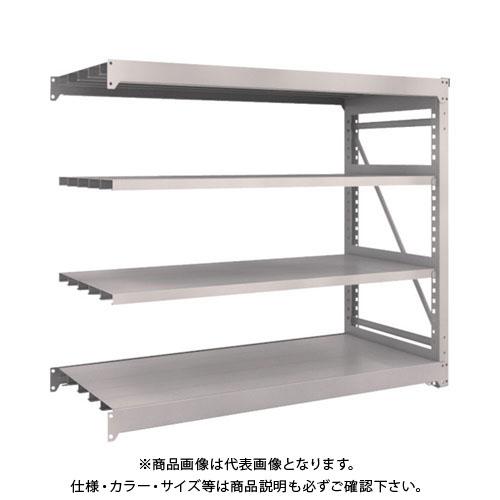 【運賃見積り】【直送品】 TRUSCO M10型重量棚 1800X760XH1500 4段 連結 ネオグレー M10-5674B:NG