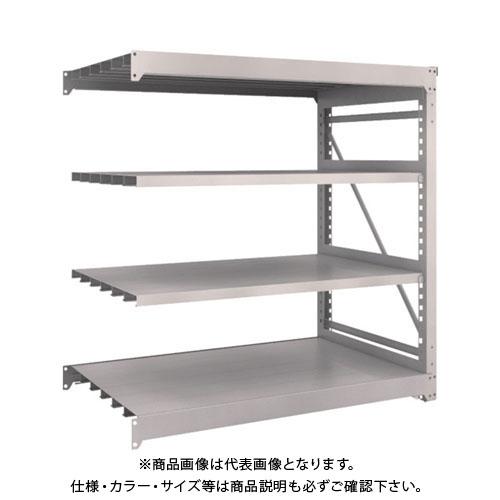 【運賃見積り】【直送品】 TRUSCO M10型重量棚 1500X900XH1500 4段 連結 ネオグレー M10-5594B:NG