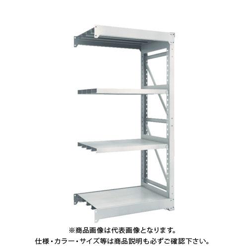 【運賃見積り】【直送品】 TRUSCO M10型重量棚 900X620XH1800 4段 連結 ネオグレー M10-6364B:NG