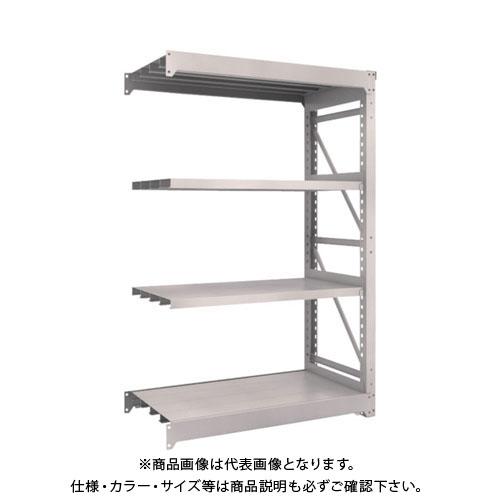 【運賃見積り】【直送品】 TRUSCO M10型重量棚 1200X620XH1800 4段 連結 ネオグレー M10-6464B:NG