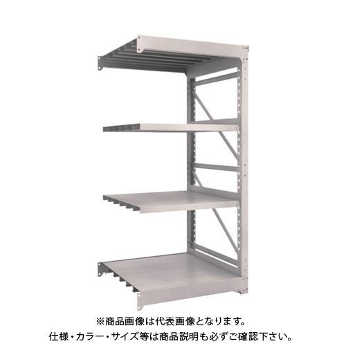 【運賃見積り】【直送品】 TRUSCO M10型重量棚 900X900XH1800 4段 連結 ネオグレー M10-6394B:NG